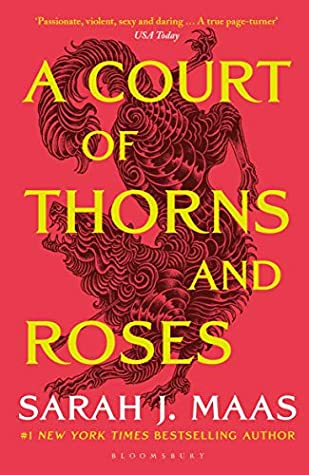 Cover art for A Court of Thorns and Roses by Sarah J. Maas.